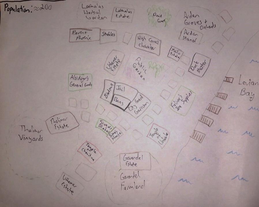 World Building Sketch Map of Asari