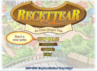 Recettear Title Screen